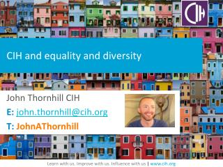CIH and equality  and diversity