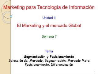 Marketing para Tecnolog�a de Informaci�n