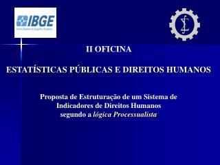 II OFICINA  ESTATÍSTICAS PÚBLICAS E DIREITOS HUMANOS Proposta de Estruturação de um Sistema de