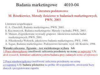 Badania marketingowe      4010-04