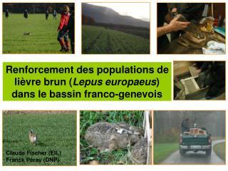Renforcement des populations de lièvre brun ( Lepus europaeus ) dans le bassin franco-genevois