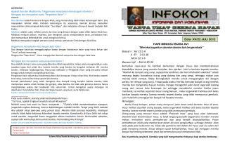 Edisi : XV/22 JULI 2012