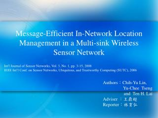 Message-Efficient In-Network Location Management in a Multi-sink Wireless Sensor Network