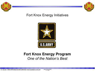 Fort Knox Energy Program One of the Nation's Best