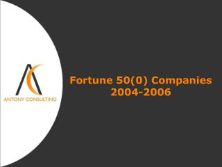 Fortune 500 Companies   2004-2006