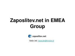 Zaposlitev in EMEA   Group