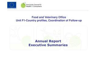 Annual Report Executive Summaries