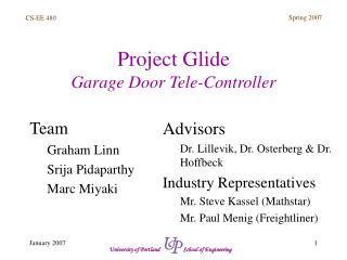 Project Glide Garage Door Tele-Controller