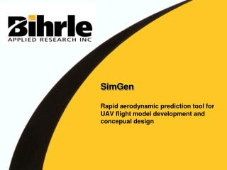 SimGen  Rapid aerodynamic prediction tool for UAV flight model development and concepual design