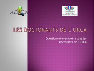 Les doctorants de l'URCA