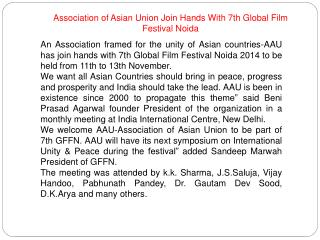Association of Asian Union Join Hands With 7th GFFN