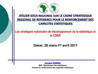 Doroth�e  OUISSIKA  BAD,  D�partement  des  statistiques