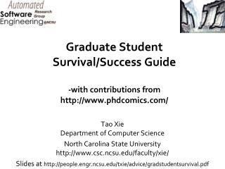 Graduate Student Survival