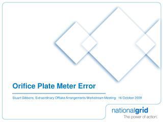 Orifice Plate Meter Error