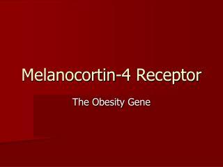 Melanocortin-4 Receptor