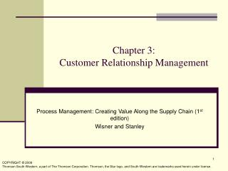 Chapter 3:  Customer Relationship Management