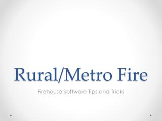 Rural/Metro Fire