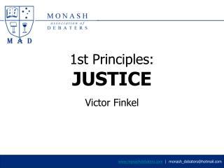 1st Principles:  JUSTICE