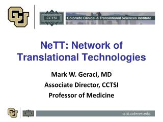 NeTT : Network of Translational Technologies