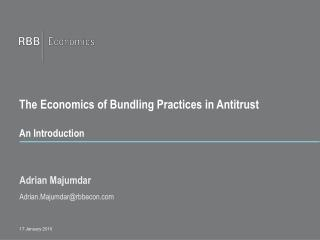 The Economics of Bundling Practices in Antitrust  An Introduction