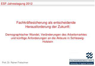 ESF-Jahrestagung 2012