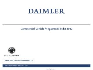 Commercial Vehicle Megatrends India 2012