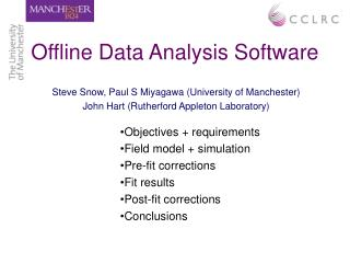 Offline Data Analysis Software