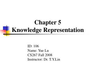 Chapter 5 Knowledge Representation