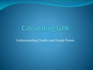 Calculating GPA