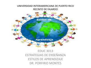 UNIVERSIDAD INTERAMERICANA DE PUERTO RICO RECINTO DE FAJARDO