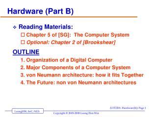 Hardware (Part B)