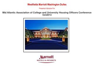 Westfields Marriott Washington Dulles Presents A Solution For
