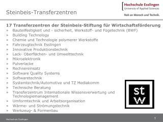 Steinbeis-Transferzentren