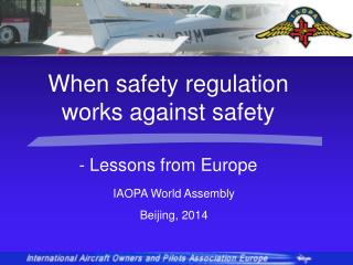 IAOPA World Assembly Beijing, 2014