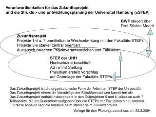 Zukunftsprojekt Projekte 1-4 u. 7 unmittelbar in Wechselwirkung mit den Fakultäts-STEPs