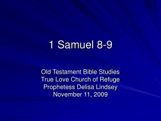1 Samuel 8-9