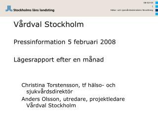 Vårdval Stockholm