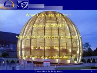 What CERN  stands for ?