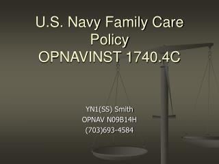 U.S. Navy Family Care Policy OPNAVINST 1740.4C