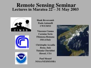 Remote Sensing Seminar