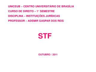 UNICEUB – CENTRO UNIVERSITÁRIO DE BRASÍLIA CURSO DE DIREITO – 1° SEMESTRE