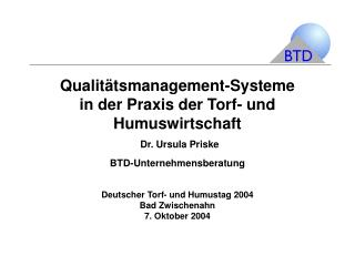 Zielsetzungen des  Qualitätsmanagements
