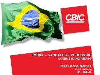 PMCMV – GARGALOS E PROPOSTAS AÇÕES EM ANDAMENTO José Carlos Martins  Vice Presidente SP – 29/04/13