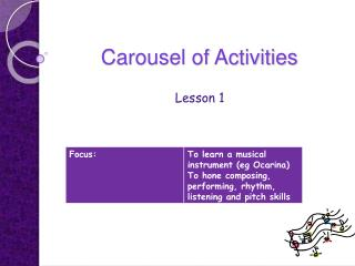 Carousel of Activities