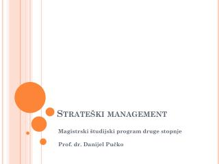 Strateški  management