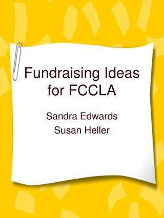 Fundraising Ideas for FCCLA
