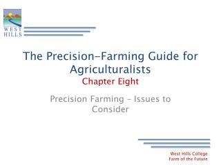 The Precision-Farming Guide for Agriculturalists Chapter Eight