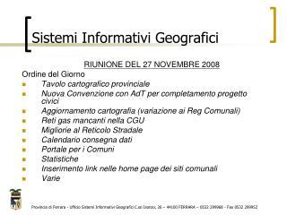 Sistemi Informativi Geografici