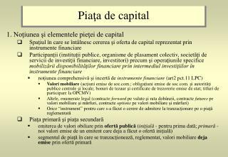 Pia ţa de capital