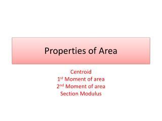 Properties of Area